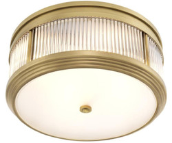Casa Padrino luxury ceiling lamp antique brass Ø 40.5 x H. 18.5 cm - Round Ceiling Light
