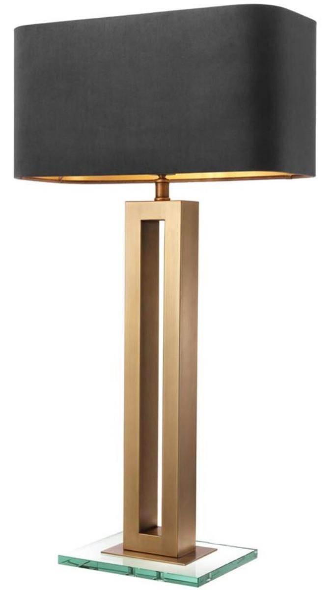 Casa Padrino Lampada Da Tavolo Di Lusso Ottone Antico Nero 45 X 22 X H 84 5 Cm Lampada Da Tavolo Hotel E Ristorante Casa Padrino De
