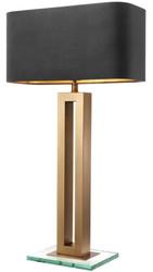 Casa Padrino Luxury Table Lamp Antique Brass / Black 45 x 22 x H. 84.5 cm - Hotel & Restaurant Table Light