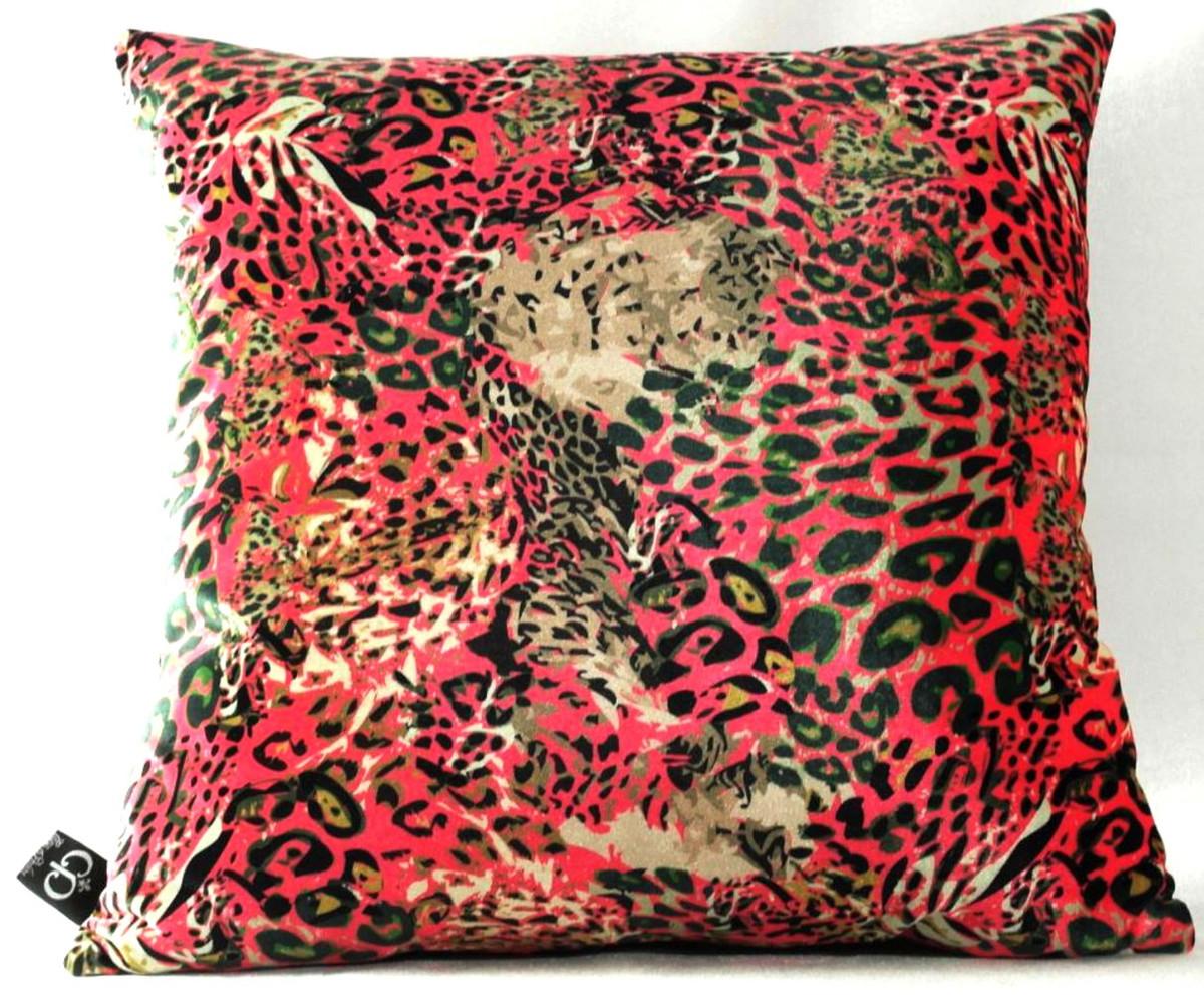 Luxus Kollektion Feinster Samtstoff Casa Padrino Luxus Wohnzimmer Deko Kissen Kansas Leo Mehrfarbig 45 x 45 cm