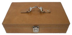 Casa Padrino Luxury Leather Watch Box Brown / Silver 25 x 20 x H. 10 cm - Luxury Accessories
