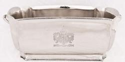 Casa Padrino Luxus Messing Weinkühler Silber 34 x 18,5 x H. 14,5 cm - Hotel & Restaurant Accessoires