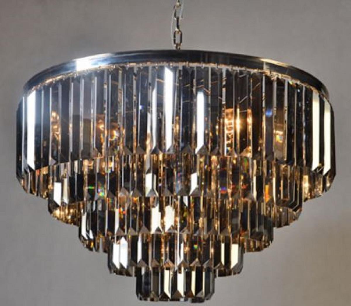 Casa Padrino Luxus Kronleuchter Silber Schwarz ø 80 X H 51 Cm Luxus Kollektion