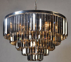 Casa Padrino Luxury Chandelier Silver / Black Ø 80 x H. 51 cm - Luxury Collection