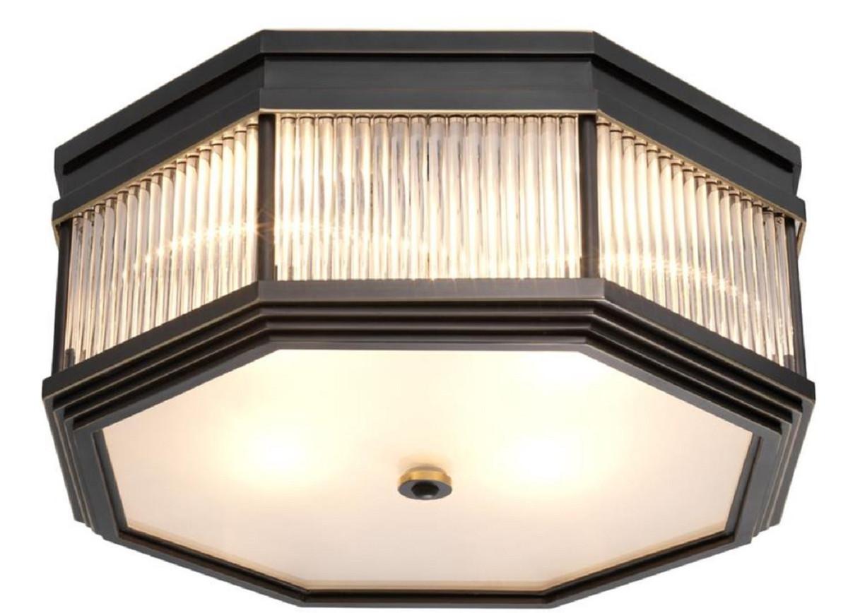 Casa Padrino Luxus Deckenleuchte Bronze 405 X 405 X H 18 Cm