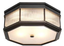 Casa Padrino Luxus Deckenleuchte Bronze 40,5 x 40,5 x H. 18 cm - Luxus Kollektion