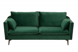 Casa Padrino Designer Living Room Sofa Green 210 x 85 x H. 90 cm - Designer furniture