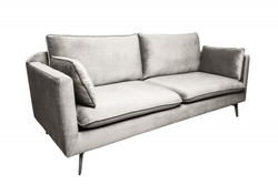 Casa Padrino Designer Living Room Sofa silver gray 210 x 85 x H. 90 cm - Designer furniture