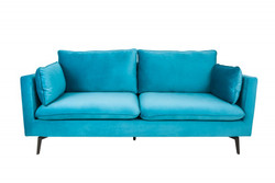Casa Padrino Designer Living Room Sofa Blue 210 x 85 x H. 90 cm - Designer furniture