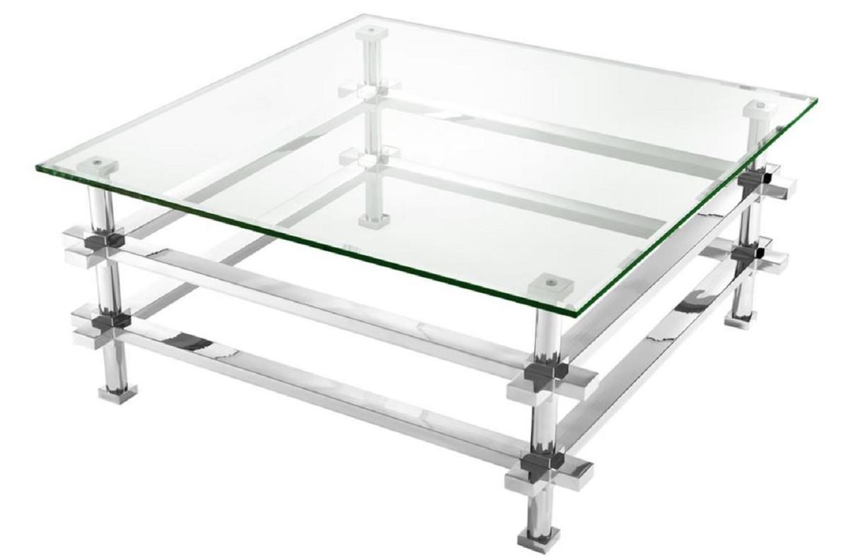 - Casa Padrino Luxury Coffee Table Silver 100 X 100 X H. 45.5 Cm
