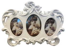 Casa Padrino Baroque Picture Frame White 23 x 2 x H. 17 cm - Baroque Decoration Accessories