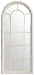 Casa Padrino Country Style Mirror Antique White 70 x 4 x H. 160 cm - Handmade Wall Mirror in Shabby Chic Look
