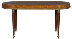 Casa Padrino Luxury Art Nouveau Desk with 2 Drawers Light Brown / Brown 160 x 68 x H. 77 cm - Luxury Office Furniture