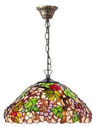 Casa Padrino Luxury Tiffany Pendant Lamp Multicolor Ø 40 - Handmade Pendant Lamp Made Of 729 Pieces