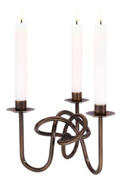 Casa Padrino luxury wall candle holder bronze 24.5 x 21.5 x H. 16.5 cm - Hotel & Restaurant Wall Decoration