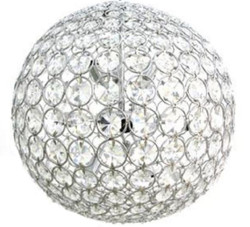 Casa Padrino crystal glass chandelier silver Ø 60 cm - Round Luxury Chandelier