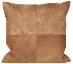 Casa Padrino Luxury Cowhide Pillow Beige 45 x 45 cm - Living Room Decoration Accessories