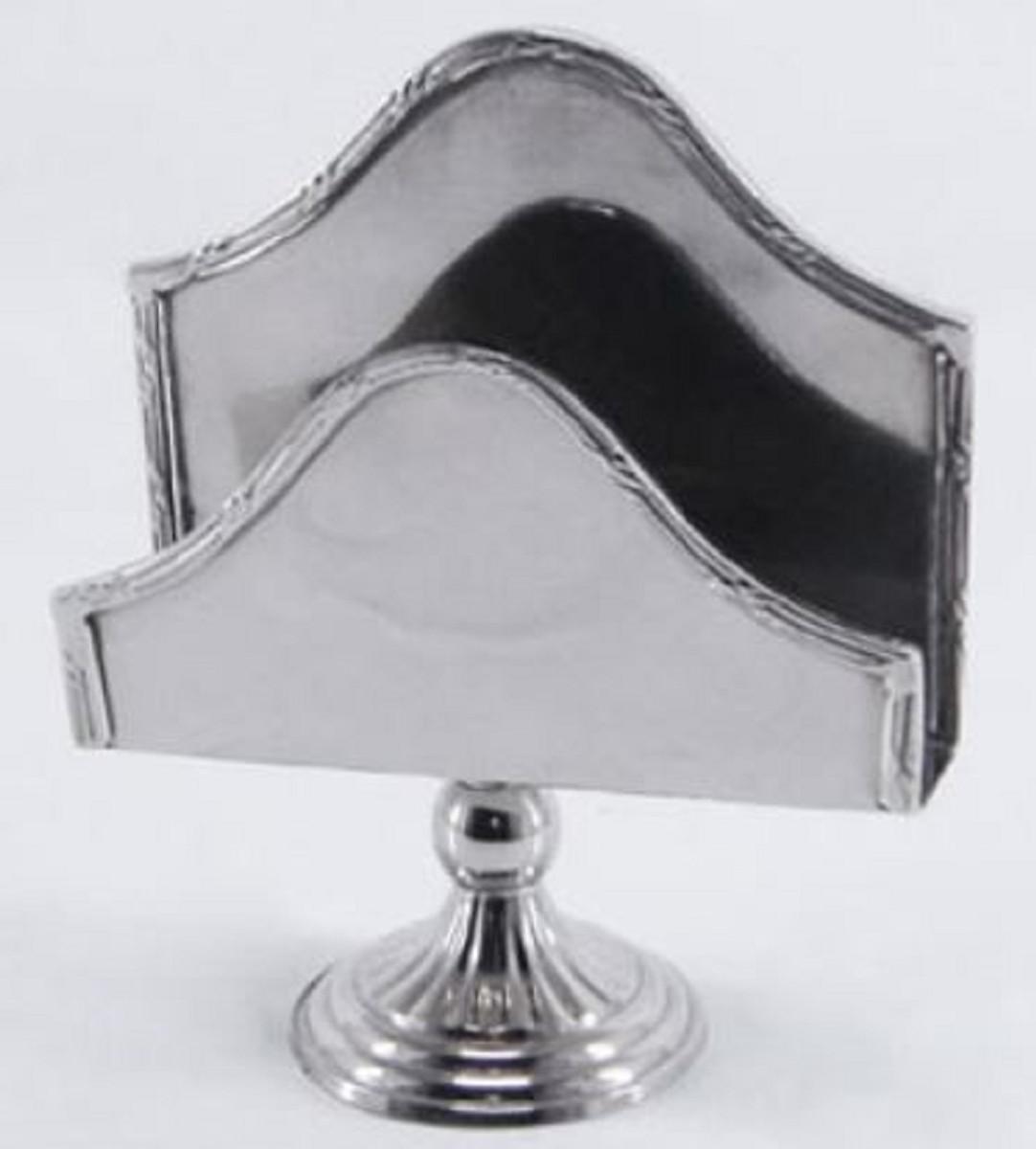 Casa Padrino Luxus Serviettenhalter Silber 13 x 5 x H. 16 cm - Hotel & Restaurant Accessoires 1