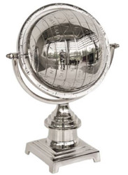 Casa Padrino luxury aluminum globe silver 25 x 18 x H. 34 cm - Desk Decoration