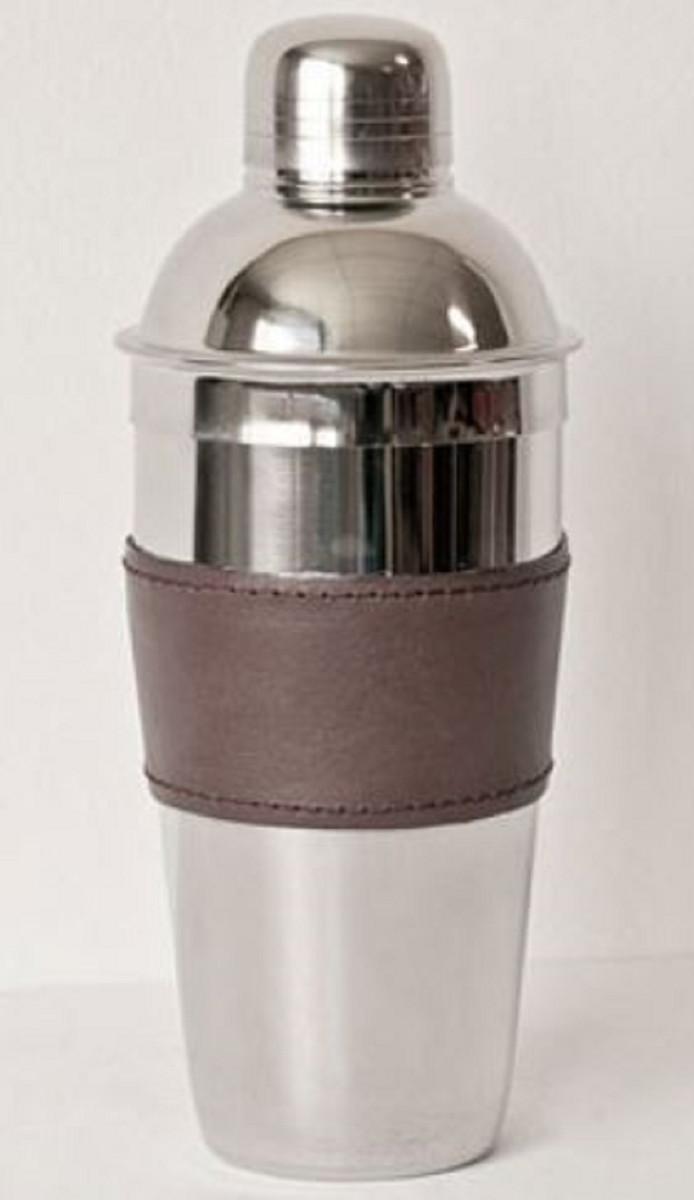 Casa Padrino Luxus Cocktailshaker Silber / Braun H. 23 cm - Gastronomie Accessoires 1