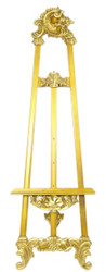 Casa Padrino Baroque Easel Gold 55 x H. 170 cm - Magnificent Solid Wood Easel With Fold-Out Stand