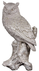 Casa Padrino luxury deco bronze figure owl silver 19 x 15 x H. 36 cm - Silver Plated Bronze Sculpture