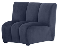 Casa Padrino Luxury Velvet Couch Midnight Blue 109 x 95 x H. 83.5 cm - Curved & Extendable Luxury Living Room Sofa