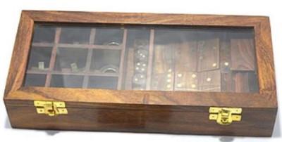Casa Padrino 2er Holz Knobelspiel Braun 28 x 13 x H. 5 cm - Geduldspiel - Geschicklichkeitsspiel in Holzbox – Bild 1