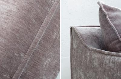 Casa Padrino Luxus Samt 3er Sofa Taupe 210 x 105 x H. 90 cm - Wohnzimmersofa mit 9 Kissen – Bild 5