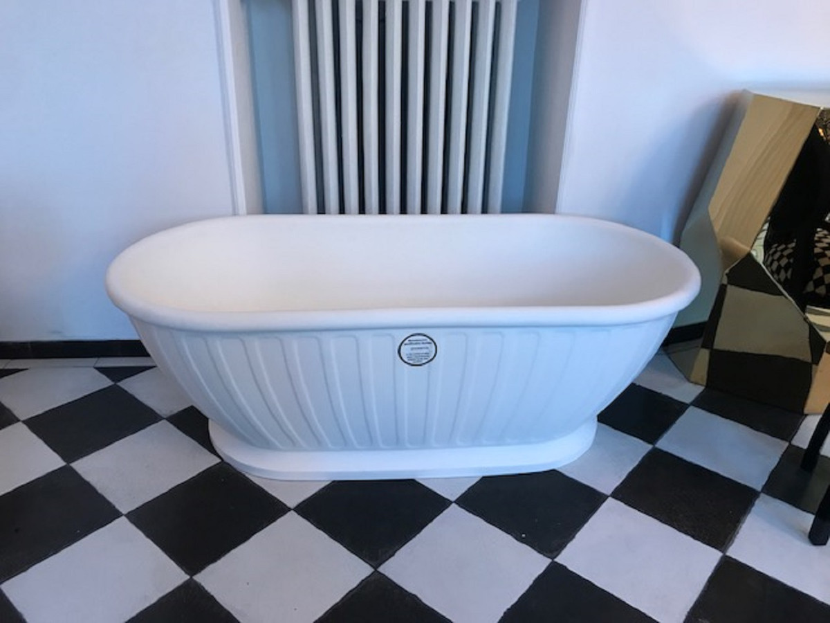 Baignoire Fibre De Pierre casa padrino baignoire détaché art nouveau de luxe blanc 169 x 80 x h. 57  cm - qualité de luxe