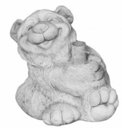 Casa Padrino parasol holder bear white gray 45 x H. 42 cm - Garden & Patio Accessories