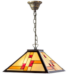 Casa Padrino Luxury Tiffany Pendant Lamp Black / Multicolor 40 x 40 cm - Handmade Pendant Lamp Made Of 64 Pieces