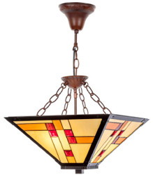 Casa Padrino Luxury Tiffany Hanging Lamp Multicolor 40 x 40 cm - Handmade Lamp of 64 Parts