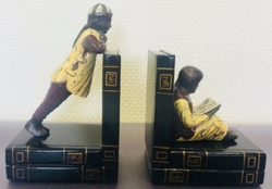 Casa Padrino Luxury Bookend Set Chinese Men Multicolor 23 x 14 x H. 11 cm - Bronze Figures on Decorative Wooden Books