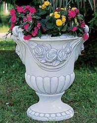 Casa Padrino Baroque Flowerpot Gray Ø 62 x H. 78 cm - Magnificent Concrete Plant Pot