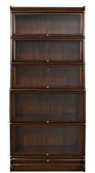 Casa Padrino Luxus Mahagoni Bücherschrank mit 5 Glastüren und Schublade Dunkelbraun 86 x 36,5 x H. 197 cm - Luxus Möbel