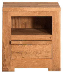 Casa Padrino country style bedside table with drawer natural 47 x 32 x H. 50 cm - Country Style Bedroom Furniture