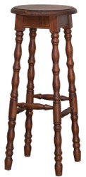 Casa Padrino Country Style Bar Stool Brown 35 x 35 x H. 82 cm - Solid Wood Bar Stool in Country Style
