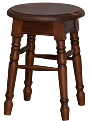Casa Padrino country style stool brown 35 x 35 x H. 45 cm - Solid Wood Stool in Country Style