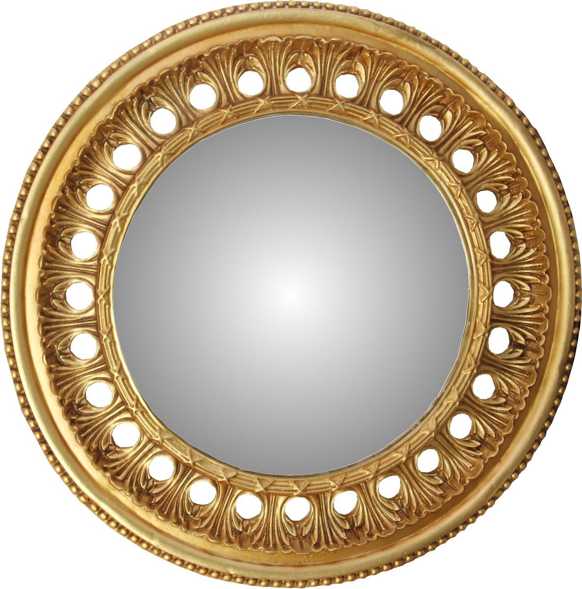 Casa Padrino Barock Wandspiegel Rund Antik Gold Durchmesser Ca 82 Cm