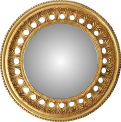 Casa Padrino Baroque Wall Mirror Round Antique Gold Diameter 82 cm - Antique Look
