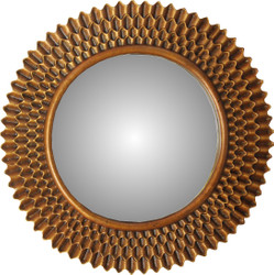Casa Padrino Baroque Wall Mirror Round Antique Gold Diameter 79 cm  Mod2- Antique Look