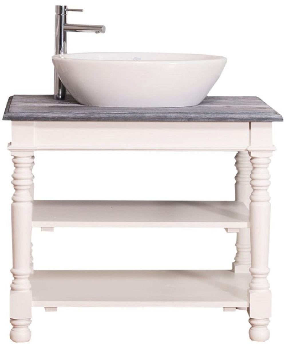 Casa Padrino Landhausstil Waschtisch Weiß / Grau 90 x 54 x H ...