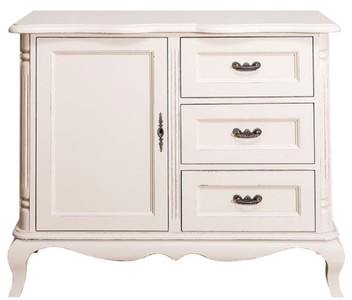 Casa Padrino country style chest of drawers with door and 3 drawers antique light gray 110 x 48 x H. 89 cm - Country Style Living Room Furniture – Bild 1