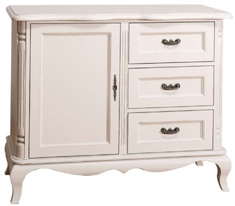 Casa Padrino country style chest of drawers with door and 3 drawers antique light gray 110 x 48 x H. 89 cm - Country Style Living Room Furniture – Bild 2