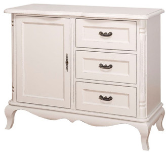 Casa Padrino country style chest of drawers with door and 3 drawers antique light gray 110 x 48 x H. 89 cm - Country Style Living Room Furniture – Bild 3