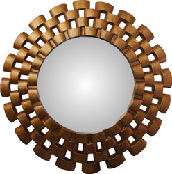 Casa Padrino Baroque Wall Mirror Round Antique Gold Diameter 78 cm - Antique Look