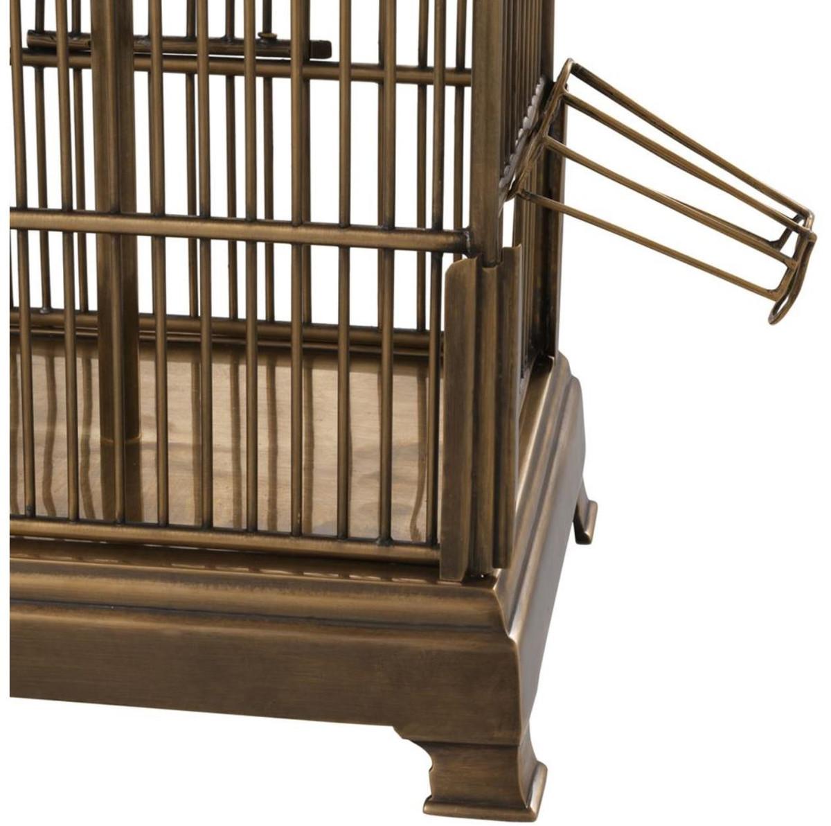 casa padrino designer vogelk fig tischleuchte vintage messingfarben schwarz 45 x 30 x h 73 cm. Black Bedroom Furniture Sets. Home Design Ideas