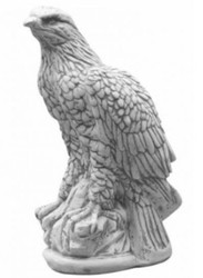 Casa Padrino concrete decoration sculpture eagle gray H. 35 cm - Garden & Terraces Decoration