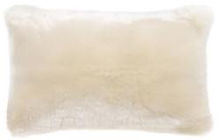 Casa Padrino Luxus Kunstfell Kissen Weiß 60 x 40 cm - Wohnzimmer Deko Accessoires